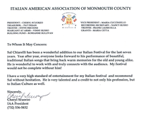 From Italian American Association of Monmouth County